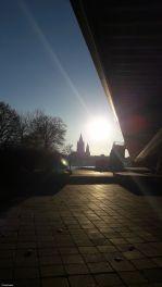"""Blick von """"neben der Rweichsbrücke"""" über die Donau, Vienna"""