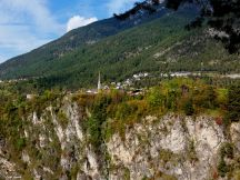 Blick über die Innschlucht nach Karres, Tirol-Austria Sept. 2017