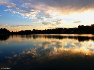 Sonnenuntergang - Kleiner See in der Südoststeiermark - Österreich