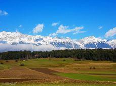 Blick von NAtters zur Innsbrucker Nordkette