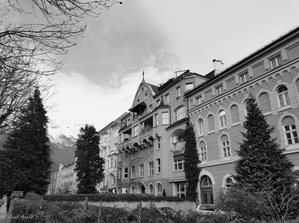 Stadhäserfront Innsbruck.Wilten Feb. 2018
