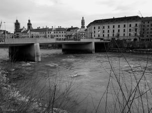 Die Innbrücke, auch Alte Innbrücke genannt Feb. 2018