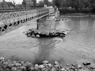 Fussgänger u. Radfahrerbrücke Innsbruck Feb. 2018