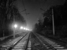 Eisenbahnschinen, Wien Jan. 2018